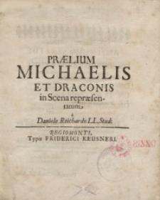 Praelium Michaelis et Draconis in Scena repraesentatum