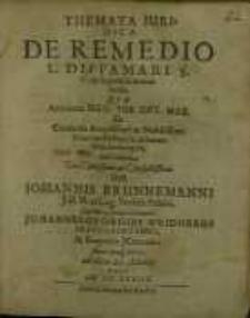 Themata Juridica De Remedio L. Diffamari S. C. de ingenuis manumissis…