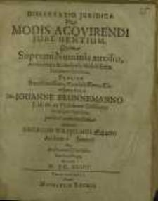 Dissertatio juridica, De modis acovirendi jure gentium...