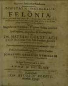 Disputatio inauguralis de felonia…
