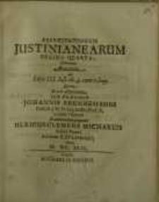 Exercitationum Justinianearum decima qvarta...