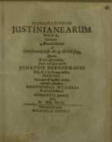 Exercitationum Justinianearum nona...