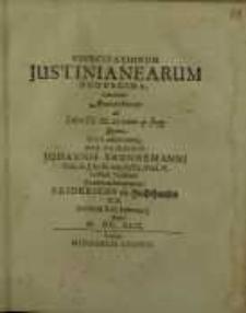 Exercitationum Justinianearum duodecima ...