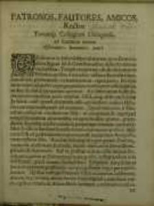 Patronos, Fautores, Amicos Rector Totumque Collegium Elbingense ad Encaenia invitat