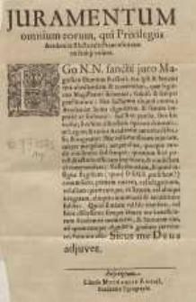 Juramentum omnium eorum, qui Privilegiis Academiae Electoralis ...