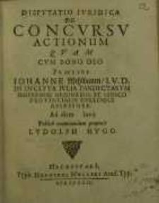 Disputatio iuridica, De concursu actionum quam ...