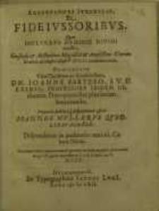 Adsertiones Iuridicae, De fideiussoribus, quam...