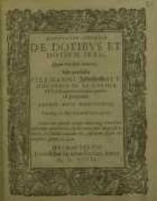 Disputatio iuricdica, De dotibus et dotium iure...