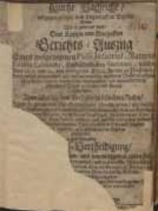 Kurtze Nachricht, entgegen gesetzet dem Lügenhafften Bericht, oder wie er genennet wird Dem Kurtzen und Warhafften...