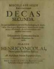 Miscellanearum Exercitationum Decas Secunda ...