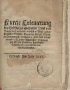 Kurtze Erleuterung des Beschlusses einer ohne Titul und Namen des Authoris...