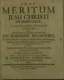 Meritum Jesu Christi ΘeanΘpΏΠoy (theanthropou)...