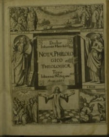Classis primae pars prior notarum philologico-theologicarum notitiam Dei naturalem ex insignibus Scripturae dictis...