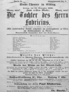 Die Tochter des Herrn Fabricius - Adolf Wilbrandt