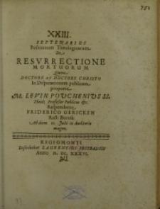 Septenarius positionum theologicarum de resurrectione mortuorum