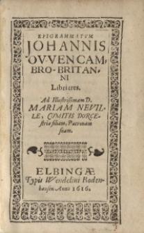Eigrammatum Ioannis Owen Cambro-Britanni