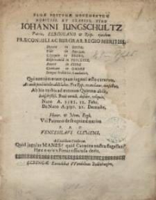Famae postumae monumentum...Ioanni Jungschultz...