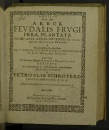Arbor feudalis frugifera, planta primo ante annos novendecim in ...
