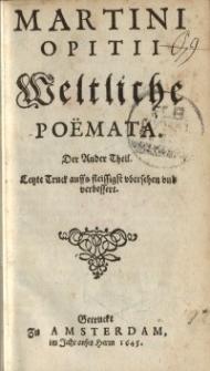 Weltliche Poemata. [T.2]