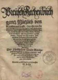 Preüsch Rechenbuch gantz Nützlich von Kauffmanschafft, der Gewicht und Zal...