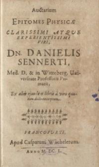 Auctarium Epitomes Physicae Clarissimi Atque Experientissimi Viri...