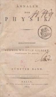 Annalen der Physik. Bd. 5