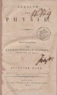 Annalen der Physik. Bd. 6