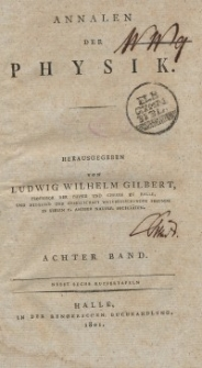 Annalen der Physik. Bd. 8