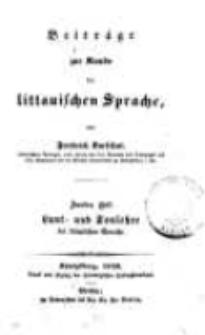 Beiträge zur Kunde der littauischen Sprache. H. 2.