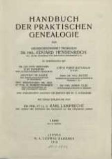 Handbuch der praktischen Genealogie. T. 1.