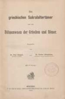 Bd.5, Abt.3: Die griechischen Sakralaltertümer und das Bühnenwesen der Griechen und Römer