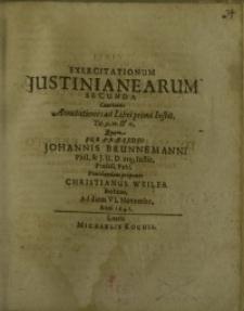 Exercitationum Justinianearum secunda...