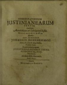 Exercitationum Justinianearum tertia...