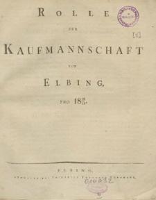 Rolle der Kaufmannschaft von Elbing pro 1828/29