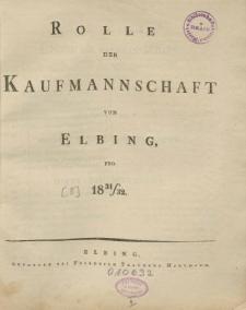 Rolle der Kaufmannschaft von Elbing pro 1831/32