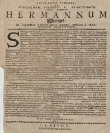 Programma funebre ad...virum dominum Hermannum Wrangel in castris Prutenicis Regio-Svecicis...