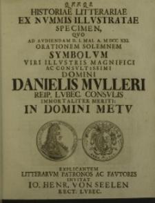 Q.F.F.Q.S. historiae litterariae ex nummis illustratae specimen, quo ad audiendam...
