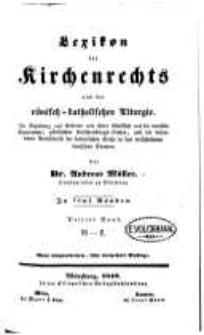 Lexikon des Kirchenrechts und der römisch-katholischen Liturgie. Bd. 3 - G-L