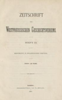 Zeitschrift des Westpreußischen Geschichtsvereins, 1880, H. 2
