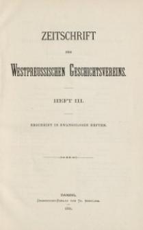Zeitschrift des Westpreußischen Geschichtsvereins, 1881, H. 3