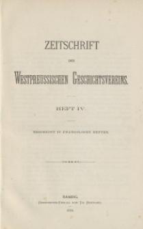 Zeitschrift des Westpreußischen Geschichtsvereins, 1881, H. 4