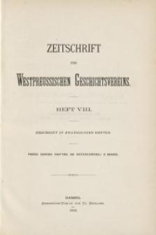 Zeitschrift des Westpreußischen Geschichtsvereins, 1882, H. 8