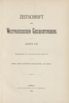 Zeitschrift des Westpreußischen Geschichtsvereins, 1882, H. 9