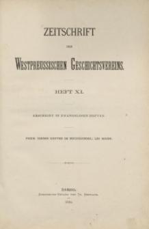 Zeitschrift des Westpreußischen Geschichtsvereins, 1884, H. 11
