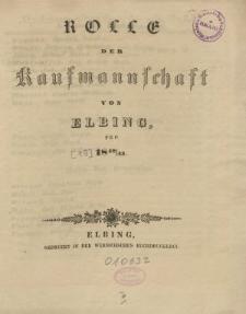 Rolle der Kaufmannschaft von Elbing pro 1842/43