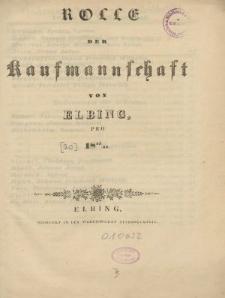 Rolle der Kaufmannschaft von Elbing pro 1843/44