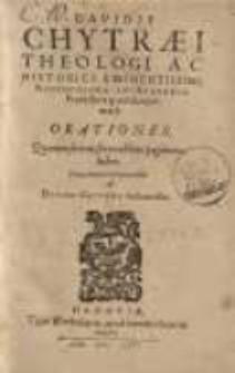 Orationes, quarum seriem sexta abhinc pagina ex hibet ...