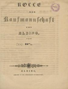 Rolle der Kaufmannschaft von Elbing pro 1844/45