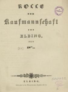 Rolle der Kaufmannschaft von Elbing pro 1845/46