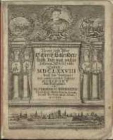Neuer und Alter Schreib-Calender auffs Jahr nach unsers Herrn Christi Geburt 1678